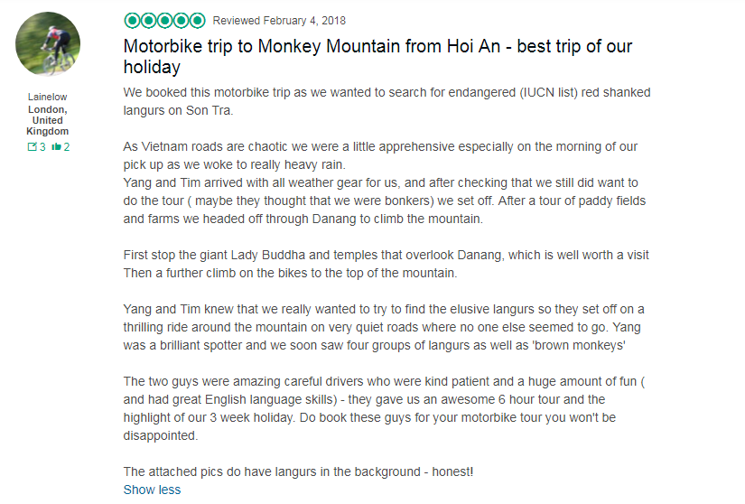 hoi an to monkey mountain motorbike tours