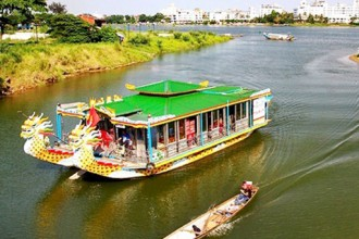 Perfume river boat tour Hue Vietnam