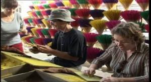 making incense in hue incense village