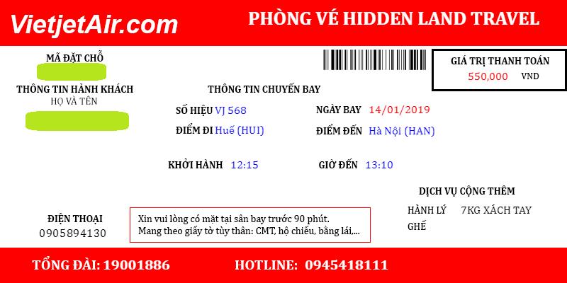 vé máy bay vietjet Đại lý vé máy bay giá rẻ tại Huế Hidden Land Travel